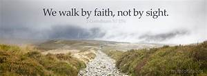 "Latest wallpaper: ""We walk by faith"" - Truth For Life"