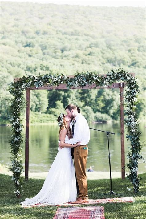 Bohemian Summer Camp Wedding Rustic Wedding 100 Layer Cake