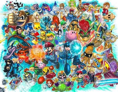 Super Smash Bros For 3ds And Wii U By Pixelated Takkun