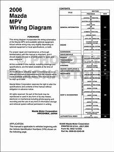 2006 Mazda Mpv Wiring Diagram Manual Original