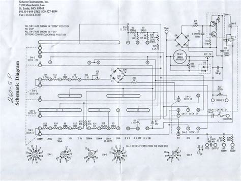 260 5p analog multimeter sch service manual schematics eeprom repair info