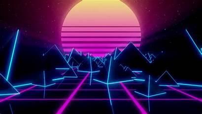 Gifs Purple Synthwave Dream Paisaje Virtual Retro