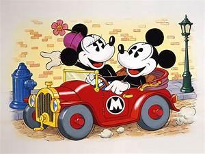 Micky Maus Und Minnie Maus : mickey and minnie mouse driving a car cartoon wallpaper ~ Orissabook.com Haus und Dekorationen