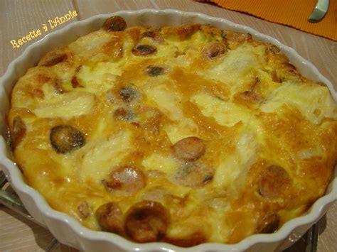 cuisiner des saucisses de strasbourg quiche sans pâte aux saucisses de strasbourg et au munster les recettes à l 39