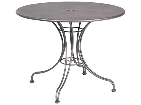 woodard wrought iron 36 bistro table with umbrella