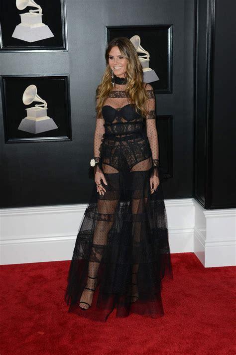 Heidi Klum Annual Grammy Awards Nyc Celebzz