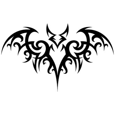 tribal tattoo bat transparent png stickpng
