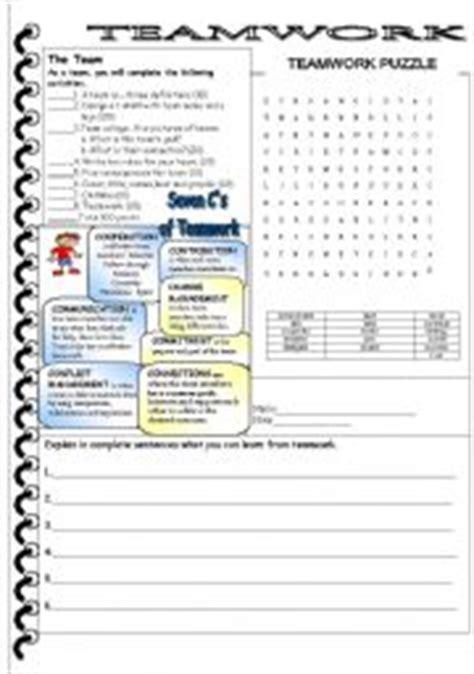 teamwork worksheets pdf teamwork esl worksheet by jij3808
