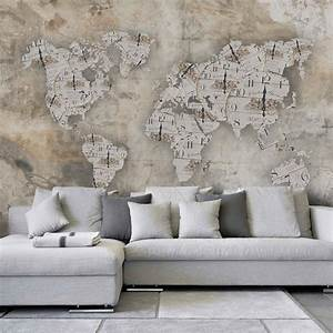 Tapete Weltkarte Kinderzimmer : tapete betonoptik shabby uhren weltkarte vlies fototapete breit ~ Sanjose-hotels-ca.com Haus und Dekorationen