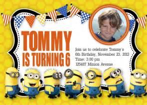 Minion Birthday Party Invitation Templates