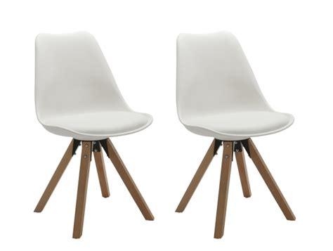 Typ 518m Stuhl 2er Set Für Küche In Weiss, Holzbeine