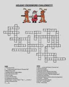 Christmas Crossword Puzzles with Answers