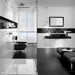 glamour la salle de bain en noir et blanc de villeroy With photo salle de bain noir et blanc