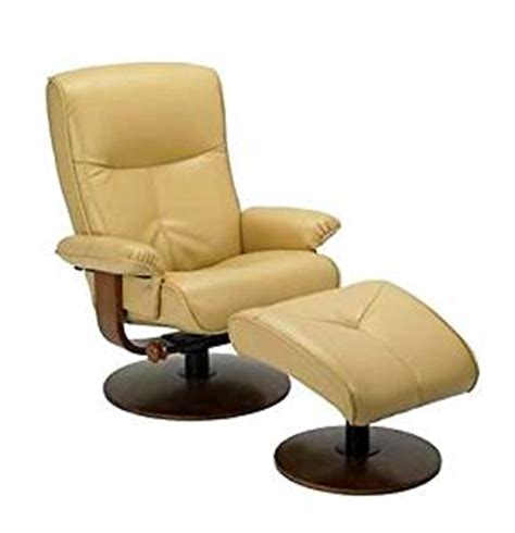 nexus butter yellow dura leather recliner and