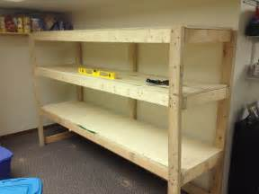 Build Wood Storage Shelves Basement
