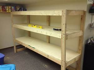 Building a Wooden Storage Shelf in the Basement - YouTube
