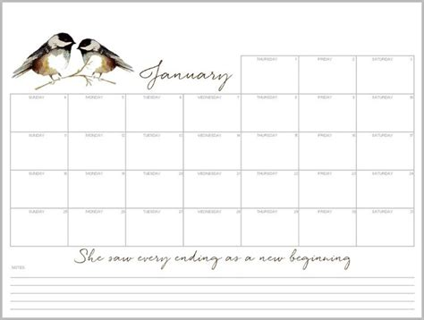 january  desktop calendar  printable monthly planner