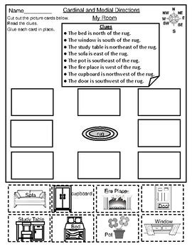 geography medial directions worksheets  mzat tpt