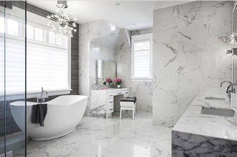 Modern Bathroom Marble Tile by For A Look That Never Goes Out Of Style Choose A Classic
