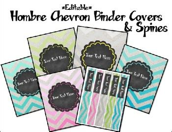 editable binder cover templates chevron and chalkboard editable binder covers and spines by the ocd