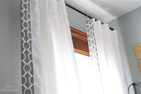 Fabric Trimmed Curtains » Decor Adventures