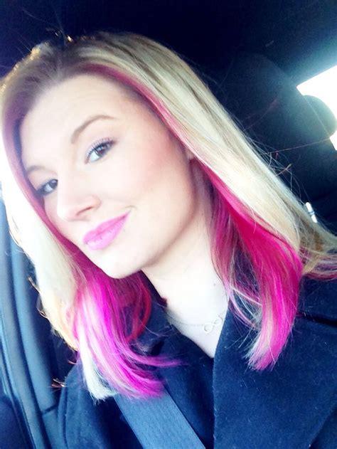 peek  boo pink   blonde hair love love love
