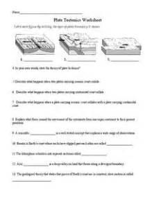 plate tectonics 5th grade worksheet lesson planet