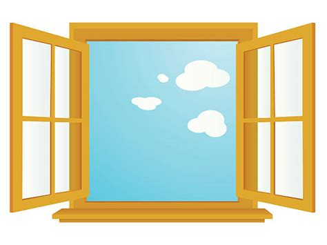 Window Clip Royalty Free Open Window Clip Vector Images