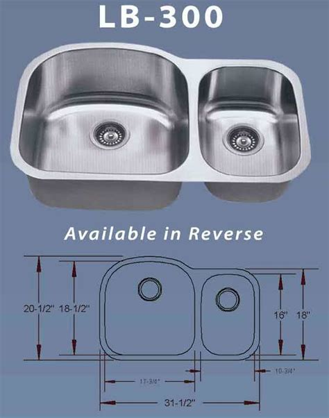 esi lb 300 double 16 gauge stainless undermount kitchen