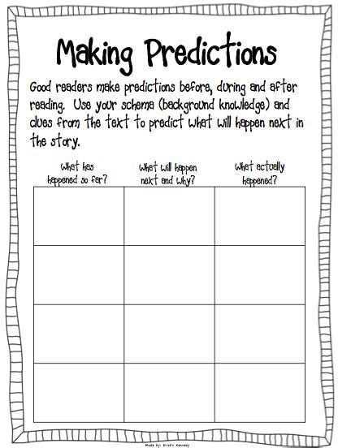 worksheets literacy worksheets  making predictions