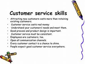 customer service With examples of good customer service skills