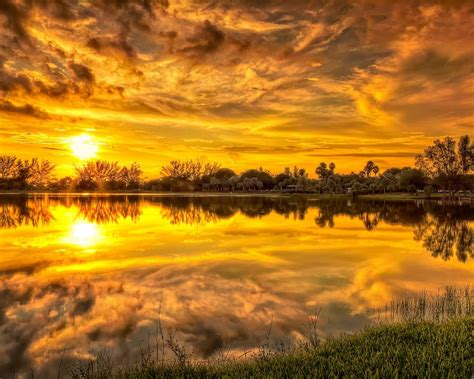 Lovely Sunset Stream Beautiful Hd Wallpapers ...