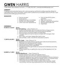 server resume exles experience 10 restaurant server resume writing resume