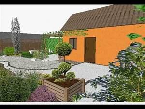 etude de l39amenagement d39un petit jardin japonais youtube With amenager un jardin japonais