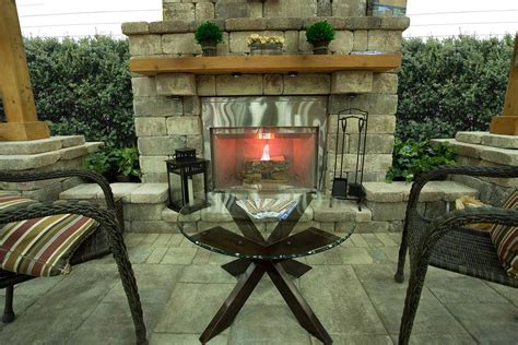 outdoor fireplaces keystone retaining wall systems