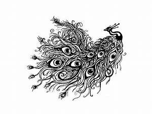 Peacock Drawing Black And White - Cliparts.co
