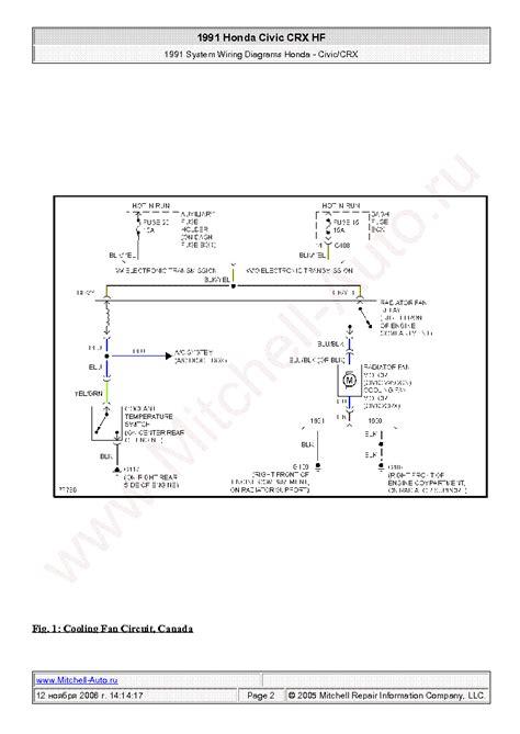 Honda Civic Crx Wiring Diagram Sch Service Manual