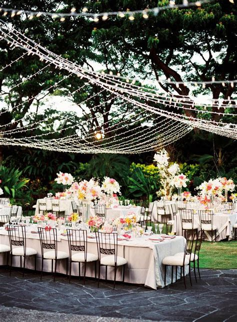 outdoor wedding reception ideas dipped  lace