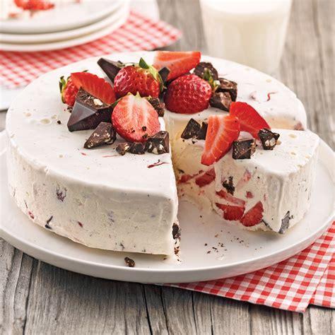 g 226 teau glac 233 aux fraises et chocolat desserts recettes 5 15 recettes express 5 15
