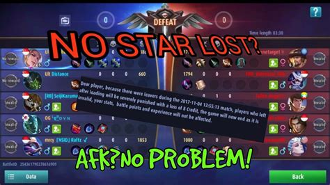 How Not To Lose Star In Rank!|mobile Legends|afk Penalty