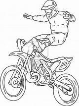 Coloring Motocross Bike Freestyle Dirt Moto Cross Desenhos Motorbike Colorir Coloriage Imprimir Desenho Cool Motos Libre Colouring Printable Transportation Dessin sketch template