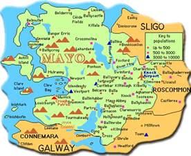 County Mayo Ireland Map