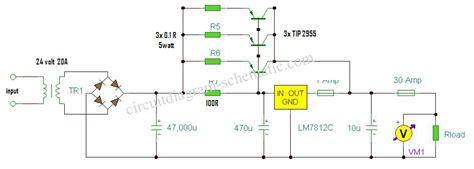 rangkaian regulator power supply   kumpulan skema rangkaian elektronika