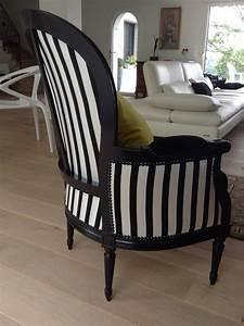 Fauteuil Voltaire Moderne : fauteuil voltaire noir et blanc id es de d coration int rieure french decor ~ Teatrodelosmanantiales.com Idées de Décoration
