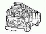 Coloring Fire Truck Cartoon Transportation Printables Depot Firetruck Template Wuppsy Popular Ausmalbilder Feuerwehr sketch template