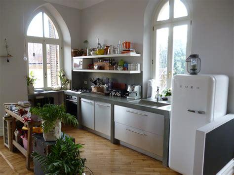 Cucina In Muratura E Acciaio.