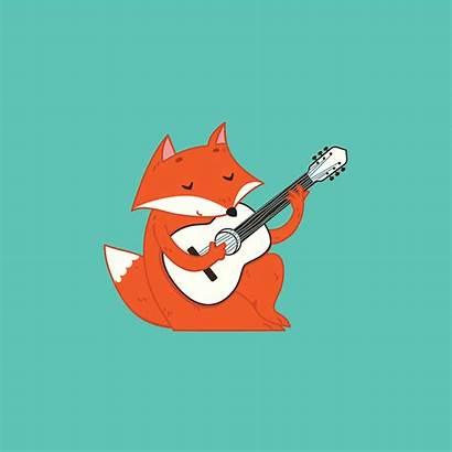 Fox Playing Gifs Animation Jan