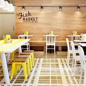 Restaurante Fish Market Decoración industrial y depurada