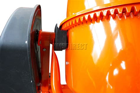foxhunter 550w 120l drum portable electric concrete cement mixer mortar plaster