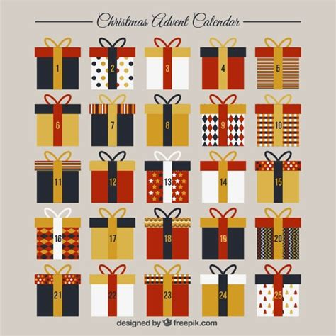 christmas advent calendar template psd advent calendar template with gift boxes vector free
